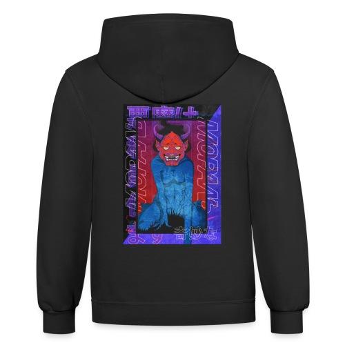 Japanese devil - Contrast Hoodie