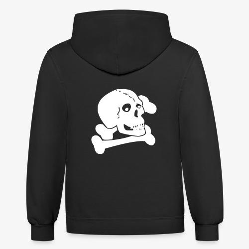 White Skull - Contrast Hoodie