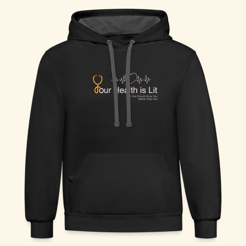 YHIL Stethoscope - Contrast Hoodie