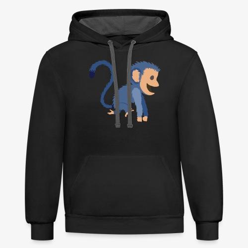 Monkey - Contrast Hoodie