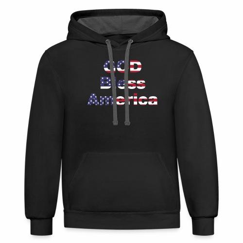 God Bless America - Contrast Hoodie