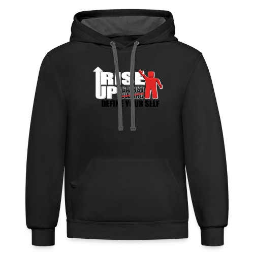 rise up logo - Contrast Hoodie