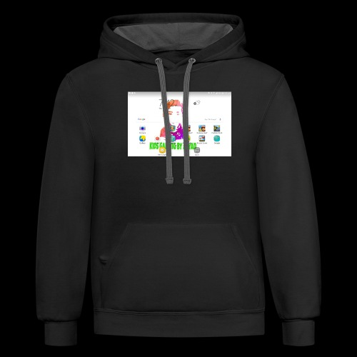 My ipad home page cup - Contrast Hoodie