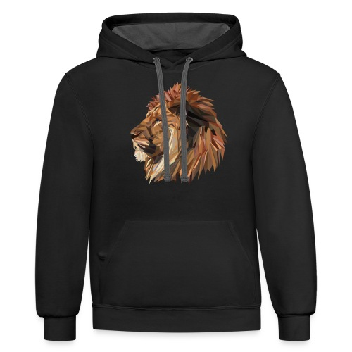 Abstract Lion - Contrast Hoodie