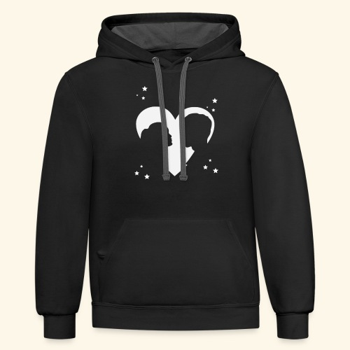 I Love You shirt perfect gift for him , her - Contrast Hoodie