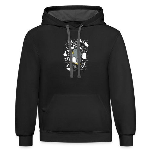 up up pinguin - Contrast Hoodie