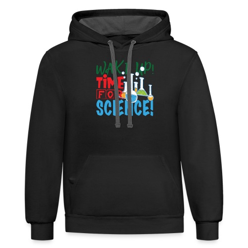 Time for science - Contrast Hoodie