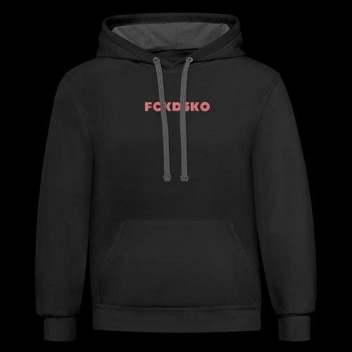 fckdsko logo - Contrast Hoodie