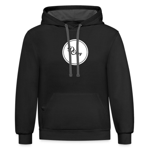 DChay Logo (White) - Contrast Hoodie