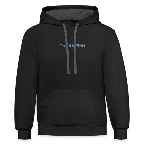 love it happiness - Contrast Hoodie