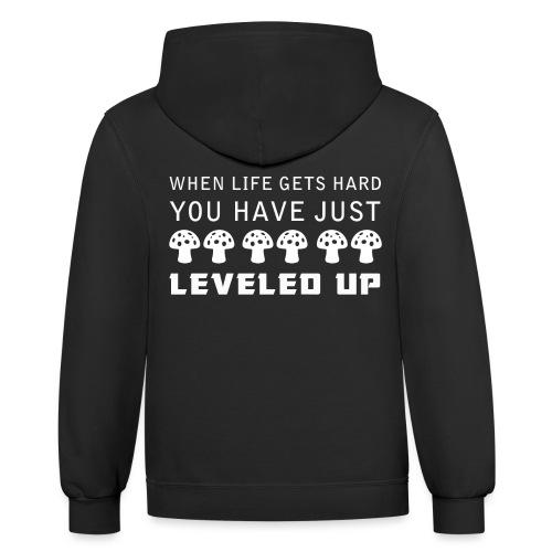 Level Up - Unisex Contrast Hoodie