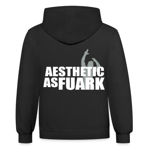 Zyzz Aesthetic as FUARK - Unisex Contrast Hoodie