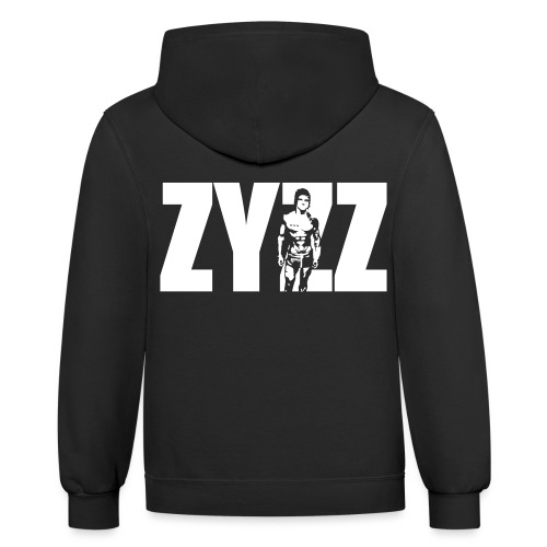 Zyzz Stand Text - Unisex Contrast Hoodie