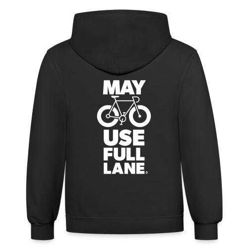 May use full lane large - Unisex Contrast Hoodie