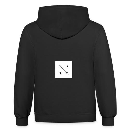 arrows - Contrast Hoodie