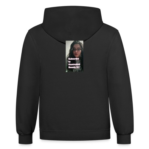 Subscribe to my channel - Contrast Hoodie