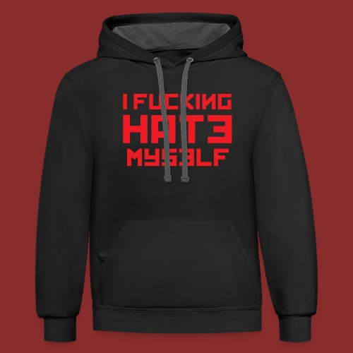 Hate Myself - Midnight N - Contrast Hoodie