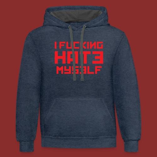 Hate Myself - Midnight N - Contrast Hoodie