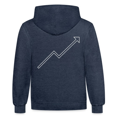 [YRC] White Stock Arrow - Unisex Contrast Hoodie