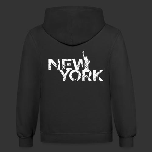 New York (Flexi Print) - Contrast Hoodie