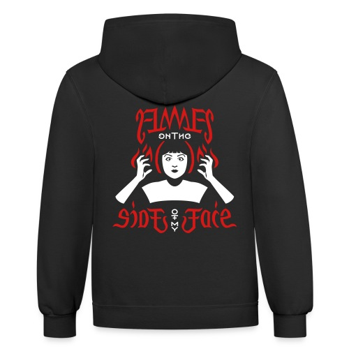 Flames on the Sides of my Face - Unisex Contrast Hoodie