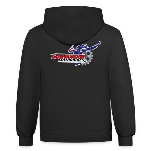 thumbnail DownUnder Motorbikes Logo 02 - Contrast Hoodie