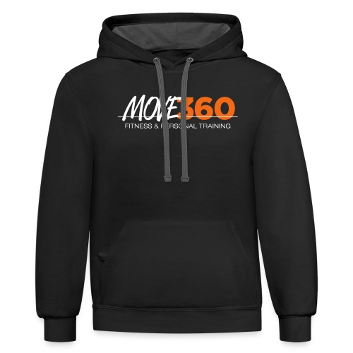 Move360 Logo LightGrey - Unisex Contrast Hoodie