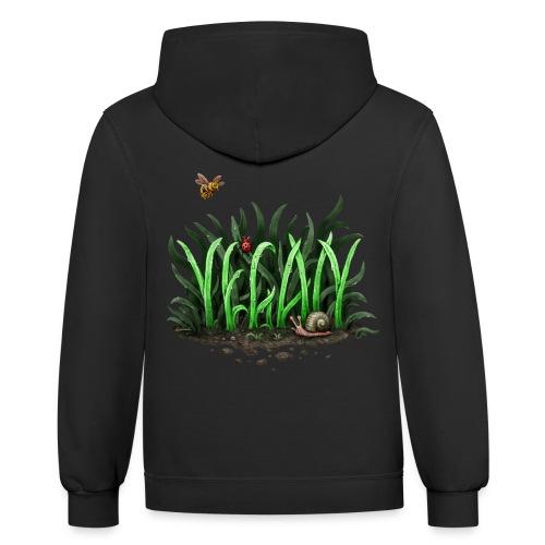 grow vegan - Contrast Hoodie