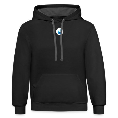 flame front png - Unisex Contrast Hoodie