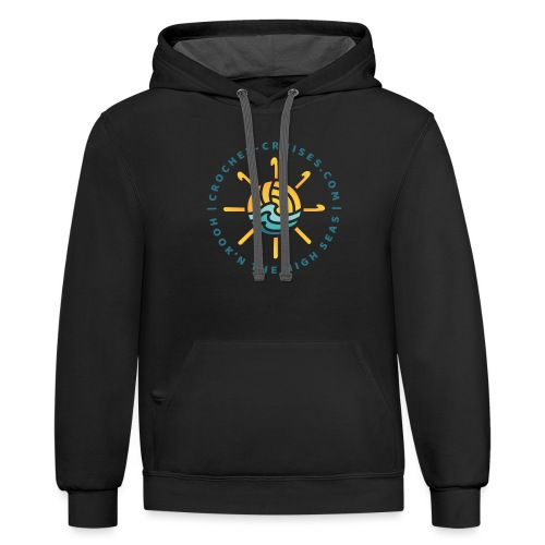 Front and Back Emblem - Womens - Unisex Contrast Hoodie