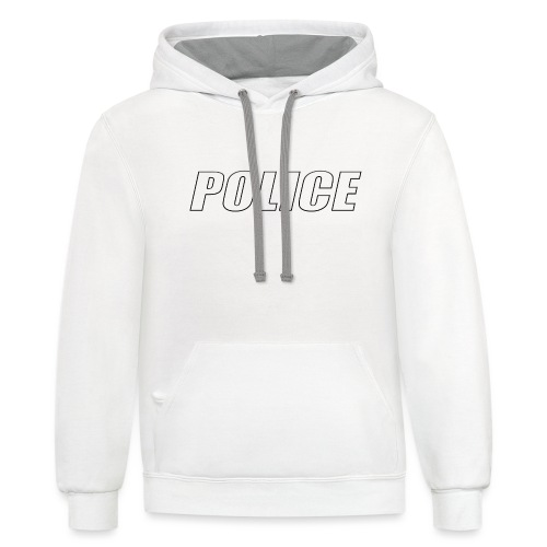 Police White - Unisex Contrast Hoodie