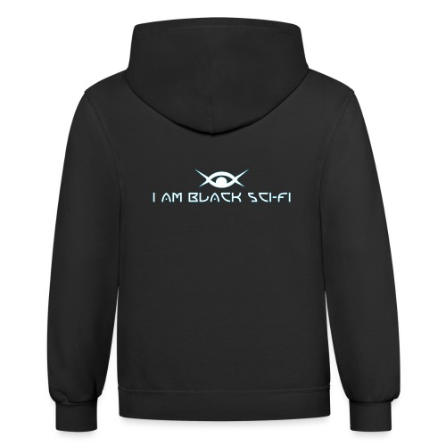 IAMBSF Logo and Text png - Contrast Hoodie