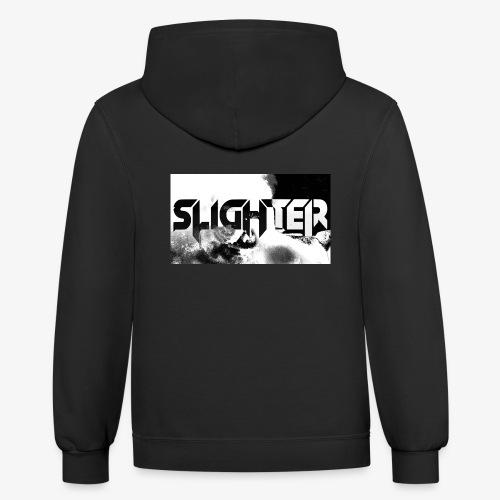 Slighter Logo Corrosion - Unisex Contrast Hoodie