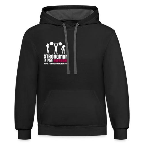 strongman is for everyone - Unisex Contrast Hoodie