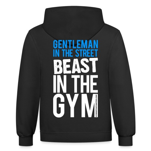 Beast in the Gym - Gym Motivation - Contrast Hoodie