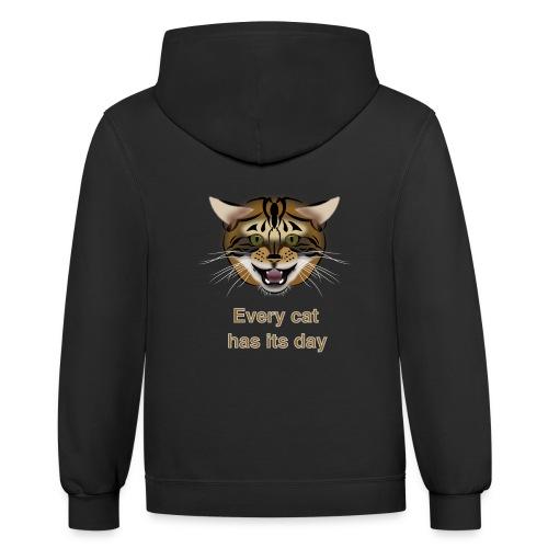 cat - Contrast Hoodie