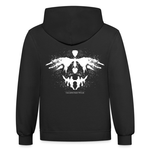 Rorschach_white - Contrast Hoodie