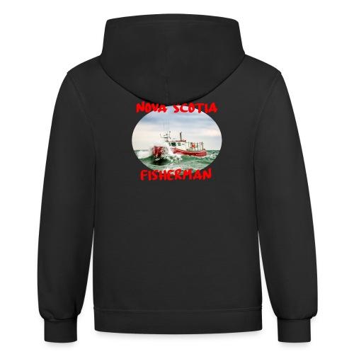 Nova Scotia Fisherman Red - Unisex Contrast Hoodie