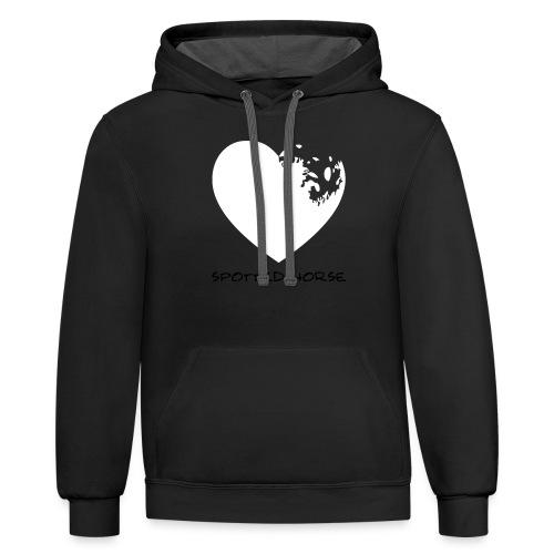 Appaloosa Heart - Unisex Contrast Hoodie