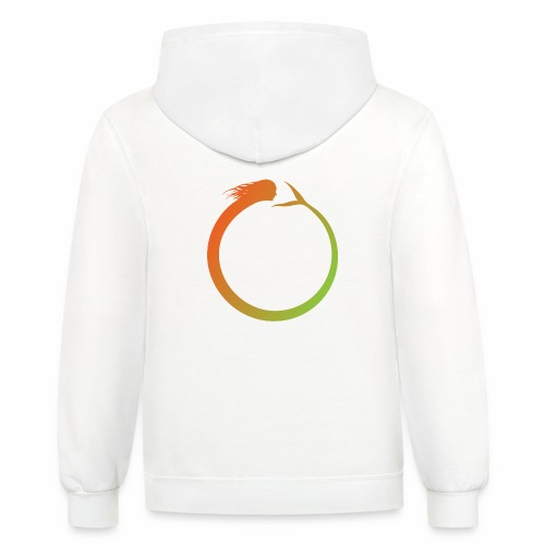 Circle Swimmer - Contrast Hoodie