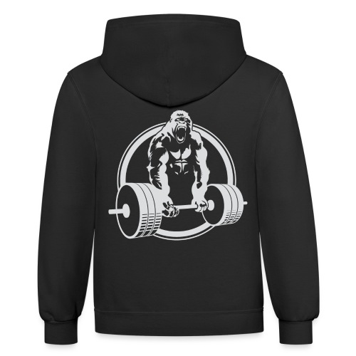 Gorilla Lifting Gym Fit - Unisex Contrast Hoodie