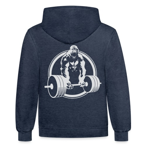Gorilla Lifting Gym Fit - Contrast Hoodie