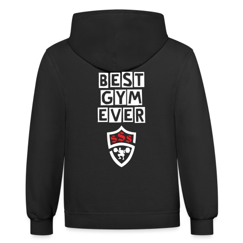 Best Gym Ever White and Red - Contrast Hoodie