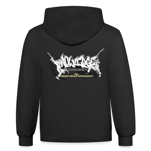 KNOWLEDGE - the urban skillz dictionary - promo sh - Contrast Hoodie