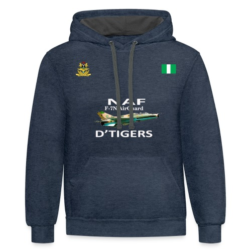 Nigerian Air Force F-7Ni AirGuard D'Tigers - Contrast Hoodie