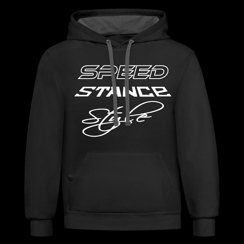 Speed stance style - Unisex Contrast Hoodie