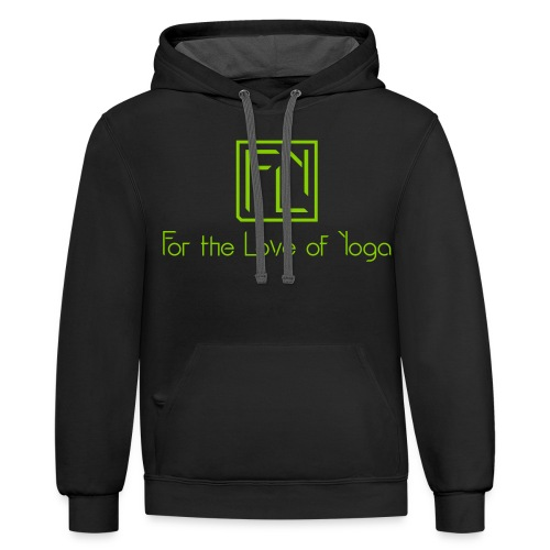 For the Love of Yoga - Unisex Contrast Hoodie