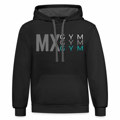 MX Gym Minimal Hat 3 - Unisex Contrast Hoodie