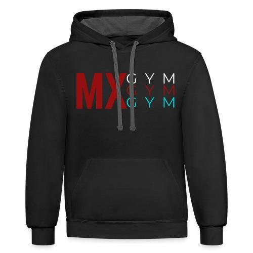 MX Gym Minimal Hat 4 - Unisex Contrast Hoodie