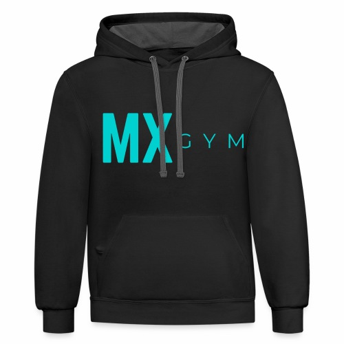 MX Gym Minimal Long Teal - Unisex Contrast Hoodie